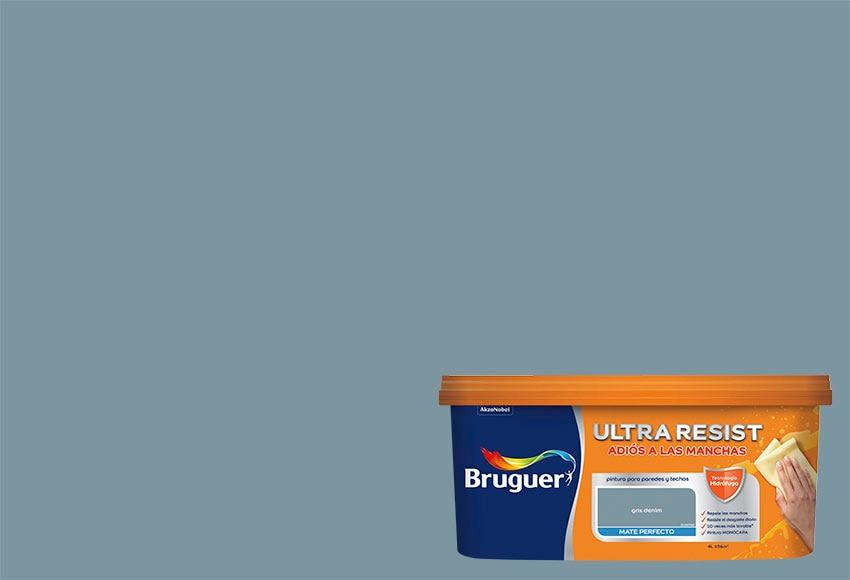 Pintura de color para paredes y techos bruguer gris denim - Paredes color gris ...