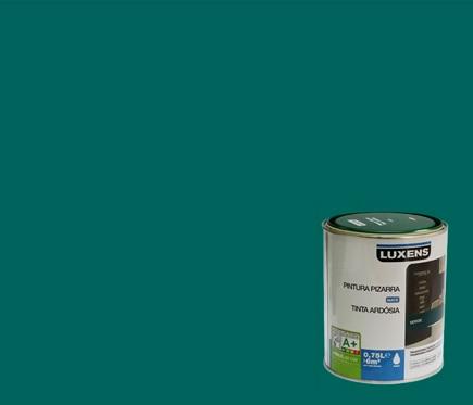 Pintura de color para paredes y techos luxens pizarra for Techos y paredes verdes