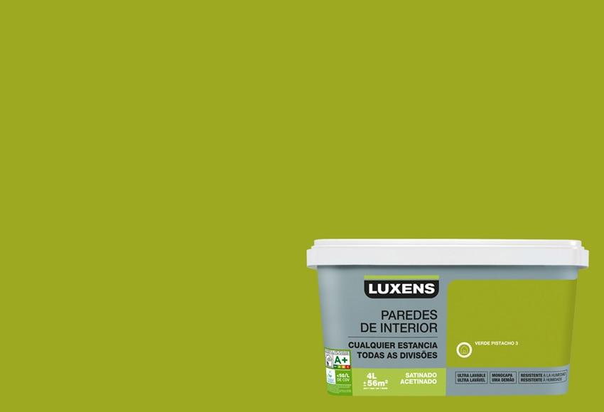 Pintura de color para paredes y techos luxens ultralavable for Techos y paredes verdes