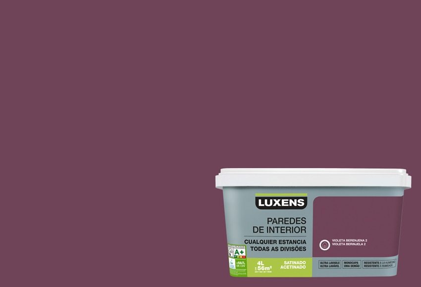 pintura de color para paredes y techos luxens ultralavable