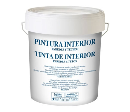 Pintura blanca para interior blanco mate ref 15554420 for Pintura plastica leroy merlin
