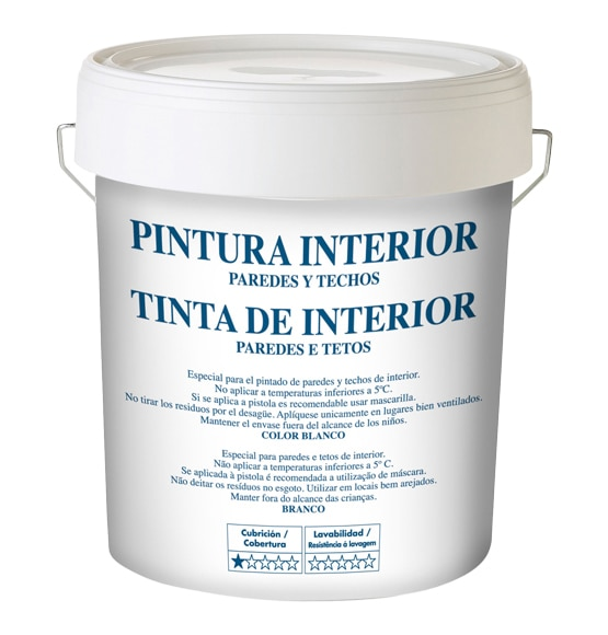 Pintura blanca para interior blanco mate ref 15554420 for Pintura satinada blanca para puertas