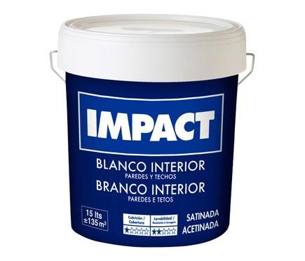 Pintura blanca para interior satinada impact ref 15523242 - Leroy merlin pintura interior ...