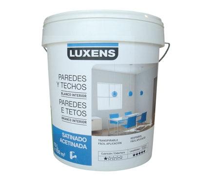 Pintura blanca para interior satinada luxens ref 15521982 - Pintura satinada blanca ...