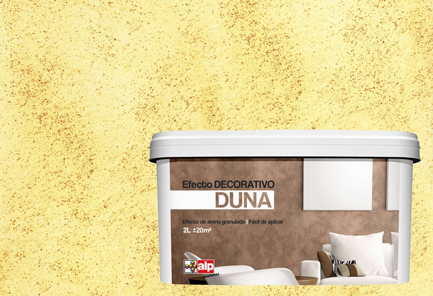 Pintura decorativa con efectos alp duna amarillo sechura - Pintura con efectos ...