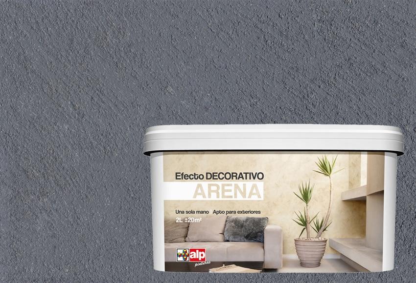 pintura decorativa con efectos alp efecto arena gris
