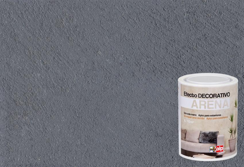 Pintura decorativa con efectos alp efecto arena gris for Pintura efecto envejecido leroy merlin