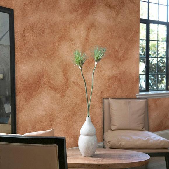 Pintura decorativa con efectos alp veladura cacao ref - Pintura decorativa para paredes ...