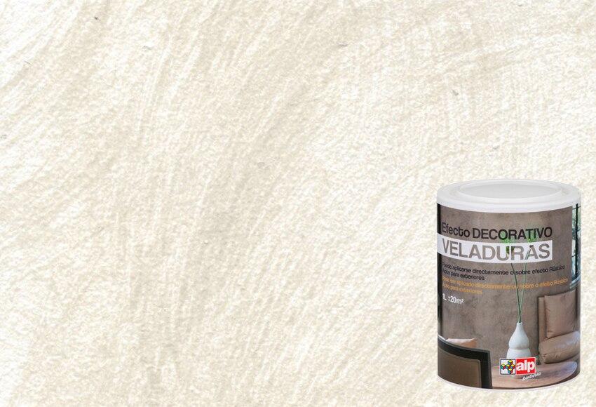 Pintura decorativa con efectos alp veladura gris lluvia - Pintura efecto envejecido leroy merlin ...