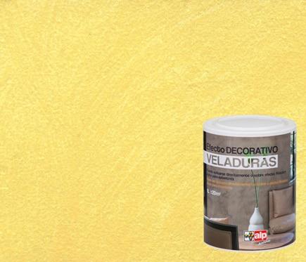 Pintura decorativa con efectos alp veladura maiz ref for Pintura efecto envejecido leroy merlin