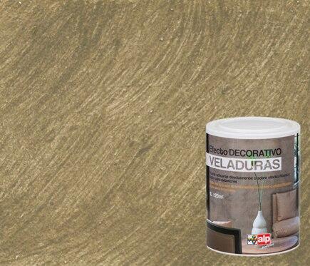 Pintura decorativa con efectos alp veladura piedra ref - Pintura para madera leroy merlin ...