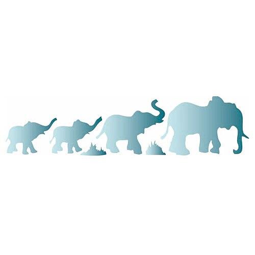 Plantilla decorativa les decoratives n 60 elefantes ref - Plantillas cenefas para pintar ...