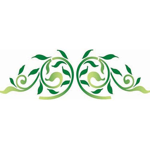 Plantilla decorativa les decoratives n 100 ramas de hojas - Plantillas decorativas pared ...