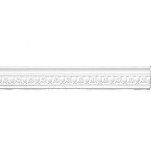 Moldura de techo poliestireno e23 56x56mm 1x2m ref - Molduras techo pared ...