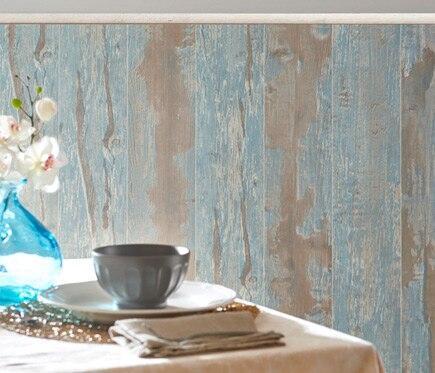 Revestimiento para pared de pvc cabane azul ref 18575501 for Revestimiento paredes pvc banos