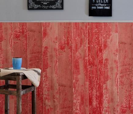 Revestimiento para pared de pvc cabane rojo ref 18575522 for Revestimiento pvc leroy merlin