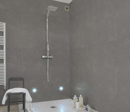 Revestimiento para pared de pvc compact mineral gris ref - Lijadora de pared leroy merlin ...