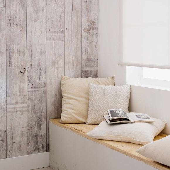 Revestimiento para pared de pvc element 3d vintage blanco - Leroy merlin santiago ...
