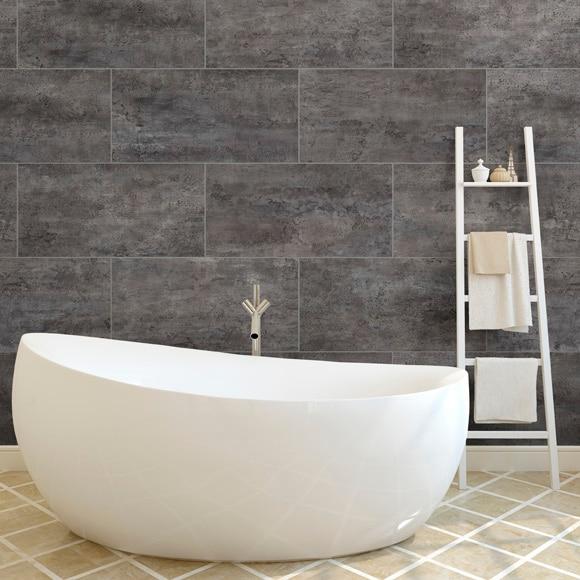 revestimiento para pared de pvc gx wall mineral pizarra gris ref 19216603 leroy merlin. Black Bedroom Furniture Sets. Home Design Ideas