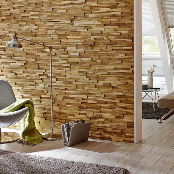 Revestimiento de pared ultrawood teak firenze ref for Revestimiento paredes interiores leroy merlin