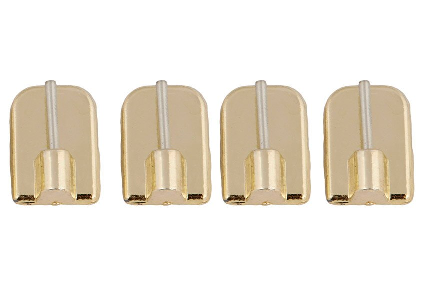 4 soportes adhesivos record oro ref 12176675 leroy merlin - Soportes adhesivos para cortinas ...