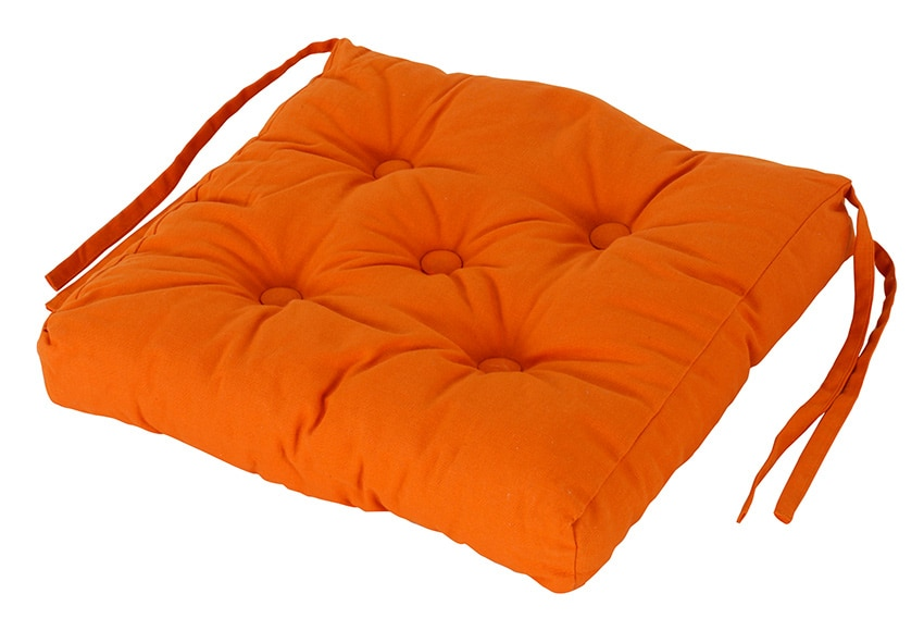 Coj n para silla clea naranja ref 16070796 leroy merlin - Cojines redondos para sillas ...