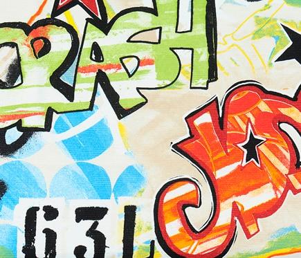 Tela Grafity 133 A-01 roja