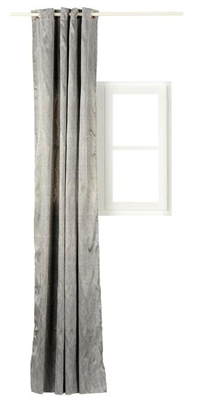 Cortina confeccionada garai plata ref 14715386 leroy merlin for Cortinas gris plata