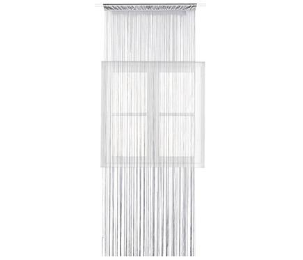 Cortina confeccionada hilos plata ref 16574481 leroy merlin for Cortinas gris plata