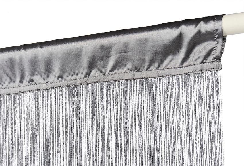Cortina confeccionada hilos plata ref 16574481 leroy merlin - Cortinas gris plata ...