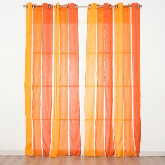 visillo con ollaos transat naranja ref 16098530 leroy. Black Bedroom Furniture Sets. Home Design Ideas