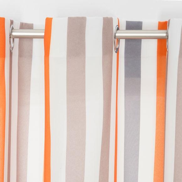Cortina con ollaos frist away naranja ref 16098635 - Cortinas y visillos leroy merlin ...