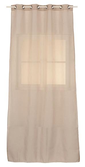 Visillo con ollaos olona lino beige ref 16103416 leroy merlin - Cortinas lino beige ...