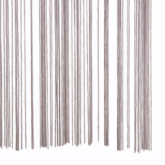 Cortina tendina hilos plata ref 16574481 leroy merlin for Cortinas de hilos