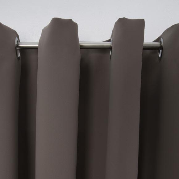Cortina con ollaos Blackout Marrón Ref. 17976070   Leroy Merlin