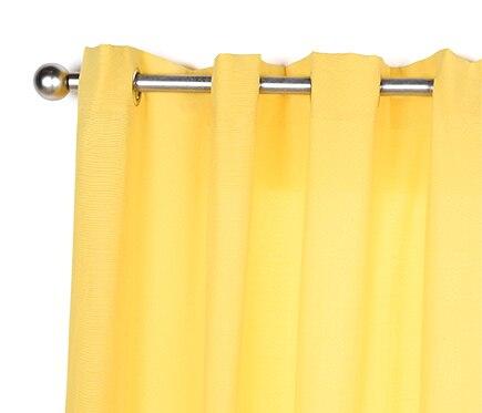 Cortina con ollaos inspire lea amarilla ref 18796932 - Cortinas y visillos leroy merlin ...