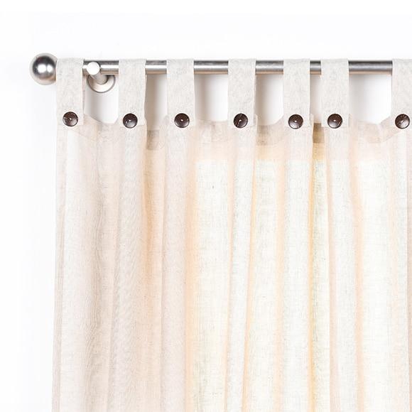 Exceptional Inspire Cortina Con Trabillas Charlina Cotton Beige