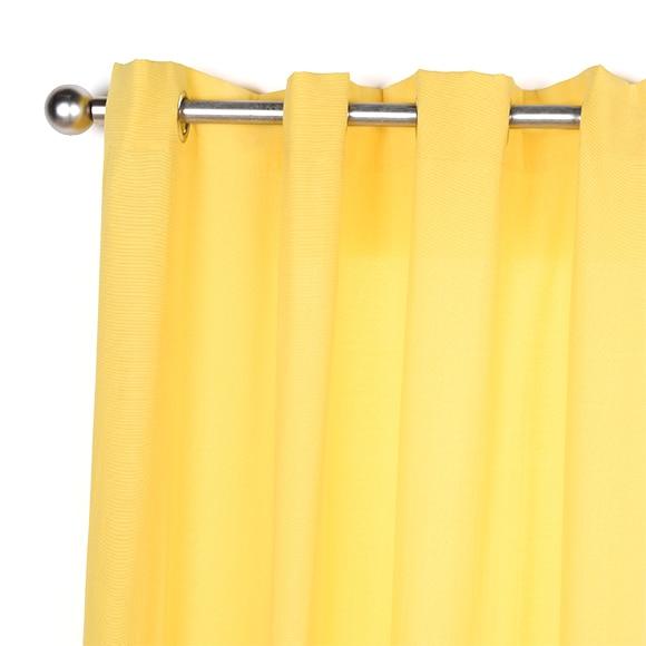 Cortina con ollaos inspire sunny amarilla ref 18803260 - Cortinas salon leroy merlin ...