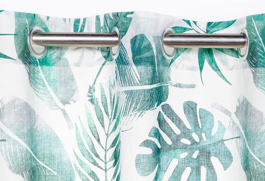 visillo con ollaos lino syon verde ref 19401186 leroy merlin. Black Bedroom Furniture Sets. Home Design Ideas