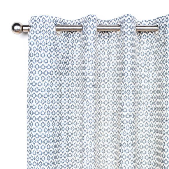 cortina con ollaos orleans azul m decor ref 19409565. Black Bedroom Furniture Sets. Home Design Ideas