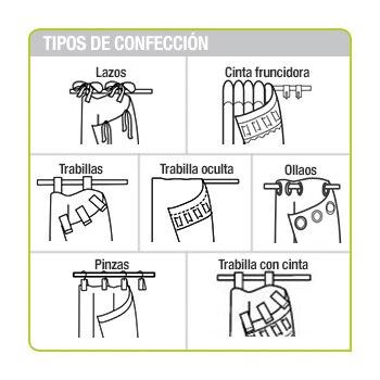 Cortinas y visillos leroy merlin - Tipos de cintas para cortinas ...