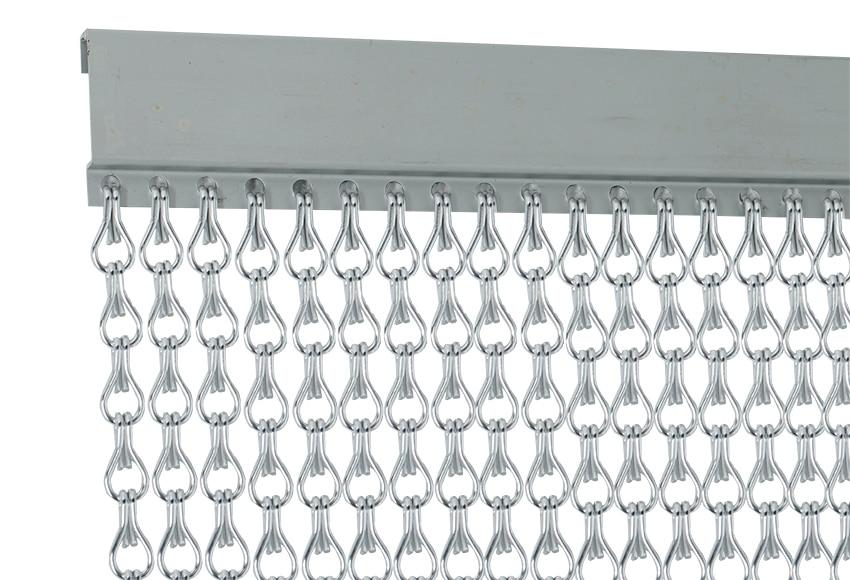 Cortina de puerta cadena aluminio ref 12029773 leroy merlin for Cortinas para puertas de exterior