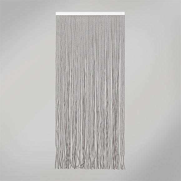 Cortina de puerta laos blanco negro ref 16718996 leroy - Barras para cortinas leroy merlin ...