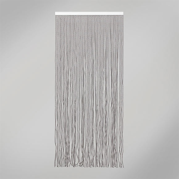Cortina de puerta laos blanco negro ref 16718996 leroy - Cortina puerta leroy merlin ...