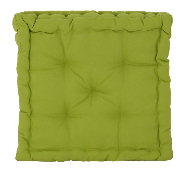 Coj n para suelo inspire clea verde ref 14522592 leroy - Cojin cuadrado suelo ...