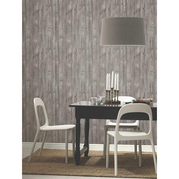 Todos los papeles pintados leroy merlin - Papel imitacion madera ...