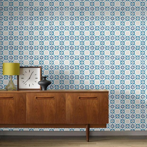 Papel pintado para ba os y cocinas leroy merlin for Vinilos azulejos bano leroy merlin