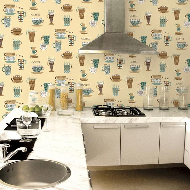 Papel pintado para ba os y cocinas leroy merlin for Papel pintado vinilico cocina