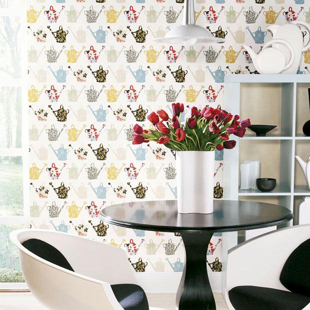 Papel pintado para ba os y cocinas leroy merlin - Papel para azulejos de bano ...