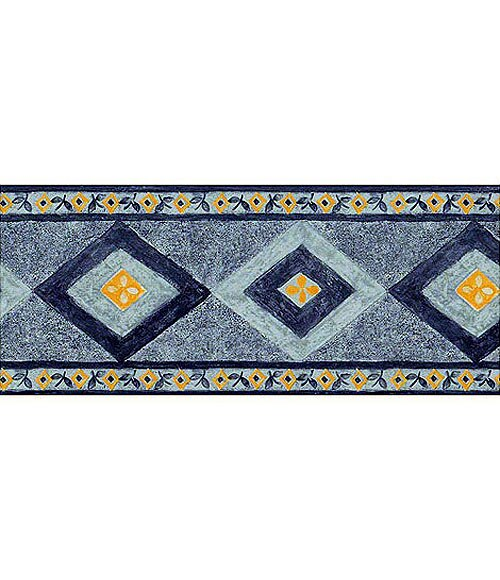 Cenefa moderna de vinilo trebo romos azul ref 12485242 - Vinilos adhesivos pared leroy merlin ...